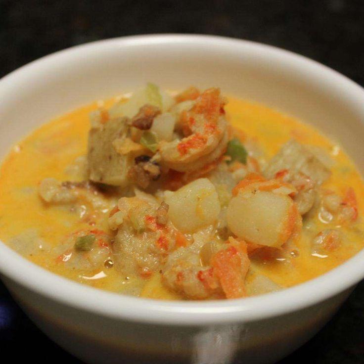 Creamy crayfish and potato soup recipe - All recipes UK