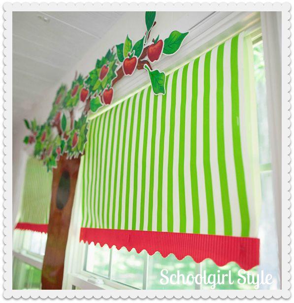Classroom Curtain Design ~ Best apple theme classroom ideas on pinterest