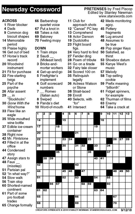 It is a picture of Geeky Free Daily Crossword Puzzles Printable