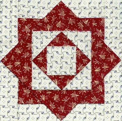 Dear Jane block, from Quilts & Pieces