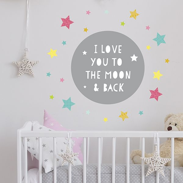 To The Moon Jumbo Wall Decals. Perfect For Baby Or Kidsu0027 Room. Quick, Easy  And Affordable Decals Youu0027ll Love. Decals Available Exclusively At . Part 21