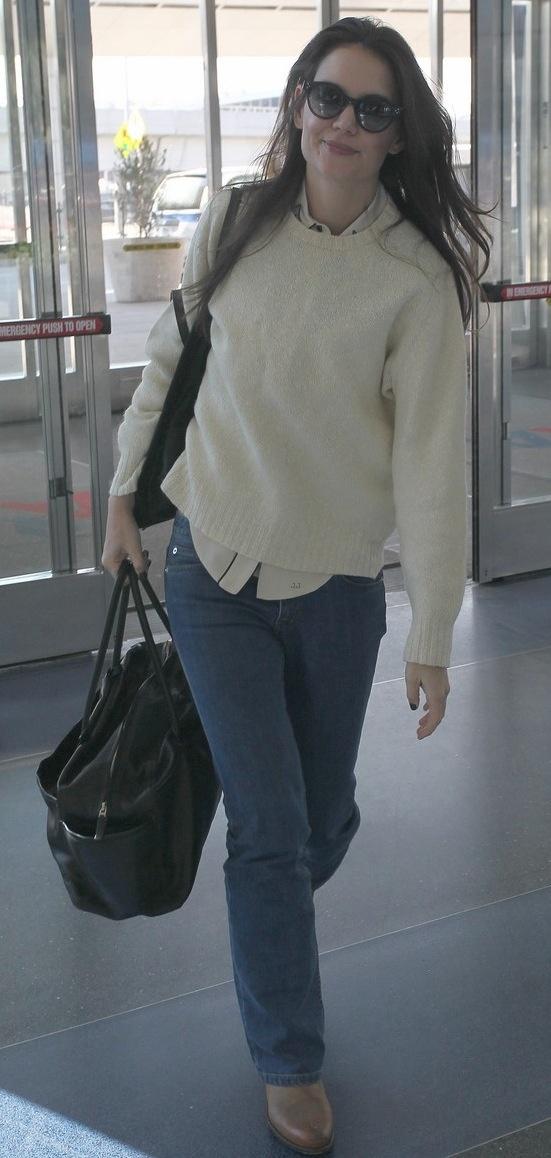 Katie Holmes at JFK