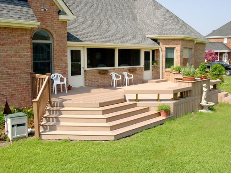 Deck Design Ideas Needs Transition From Deck To Grass