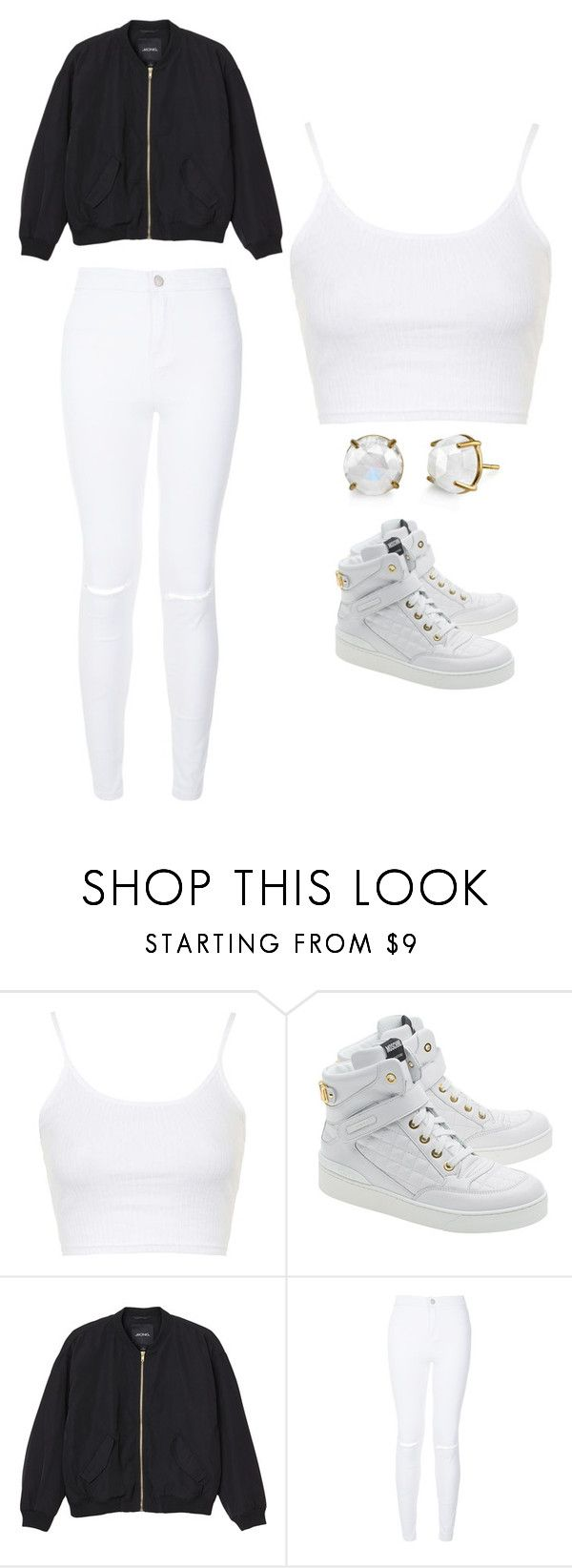 """Outfit Idea by Polyvore Remix"" by polyvore-remix ❤ liked on Polyvore featuring Topshop, Moschino, Monki, women's clothing, women, female, woman, misses and juniors"