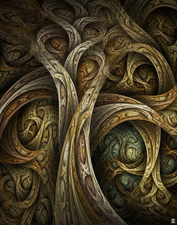 Yggdrasil  by `ClaireJones  Digital Art / Fractal Art: Fractal Art, Digital Art, Art Prints, Fine Art, Yggdrasil, Trees, Art Fractals, Art Printables, Design