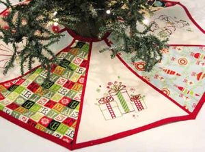 How To Machine Embroidery A Christmas Tree Shirt