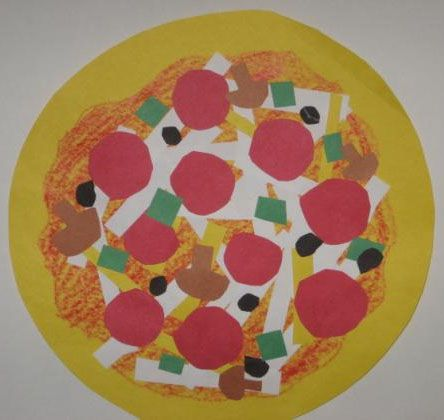 Shape Collage Pizzas Lesson Plan: Sculpture Activities and Lessons for Children and Kids: KinderArt ®