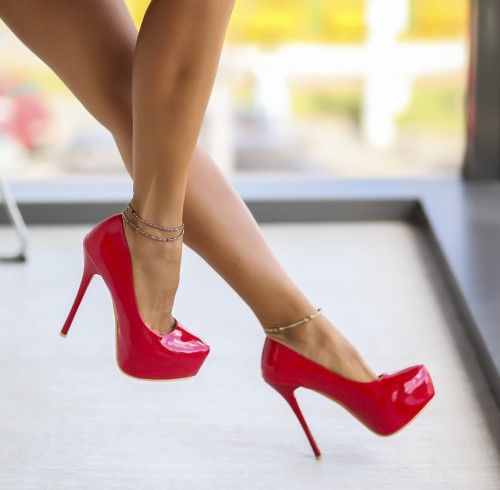 Pantofi Silvio Rosii