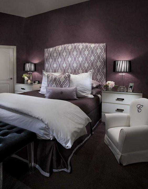 Best 25+ Dark purple bedrooms ideas on Pinterest   Purple bedroom ...