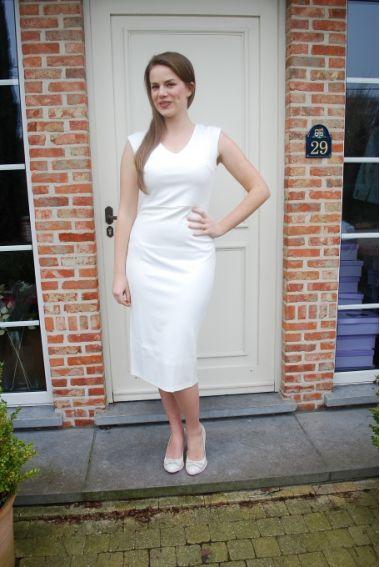 Nieuw! :: Lange witte jurk - Smashed Lemon