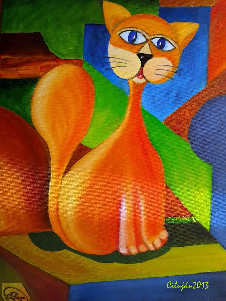 52 best Mis Cuadros pintados images on Pinterest | Paint, Cats and ...