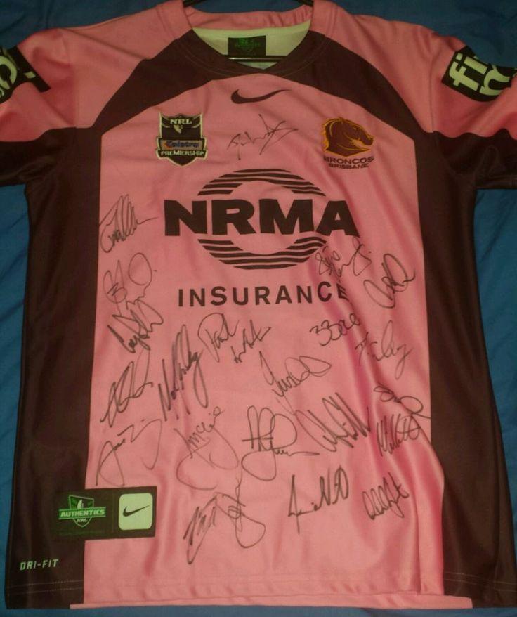 Signed Brisbane Broncos Jersey