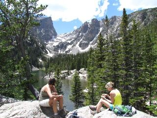 Rocky Mountain National Park, lake off of Bear Lake Trailhead