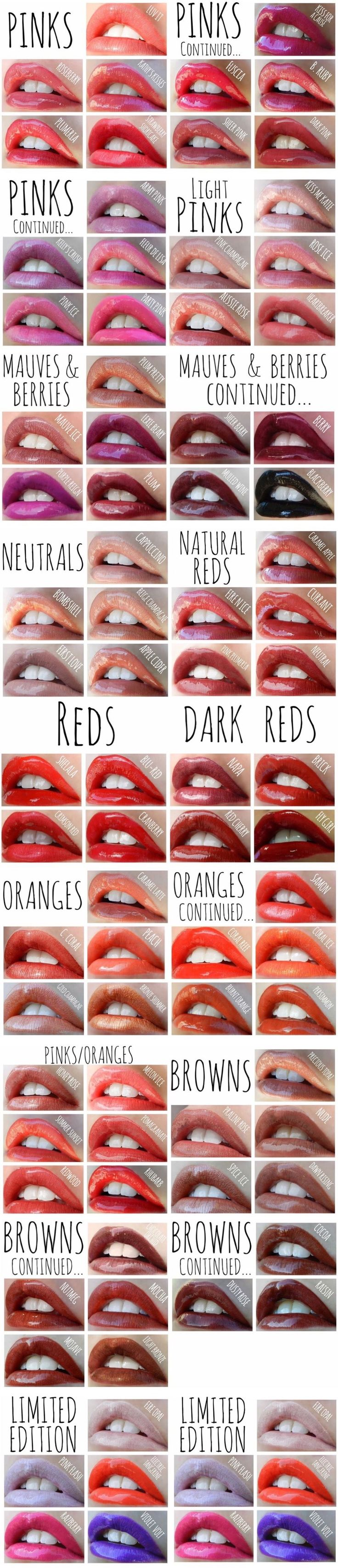 LipSense Color Chart: the most popular lipstick colors! The best lipstick  out there, waterproof, smudgeproof, kissproof, won't budge or transfer!