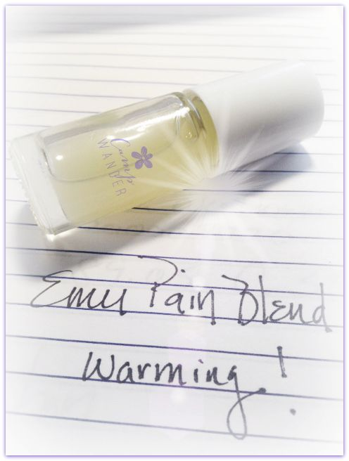 Warming Pain Blend with Emu Oil, and essential oils of birch, peppermint, helichrysum, black pepper, clove,