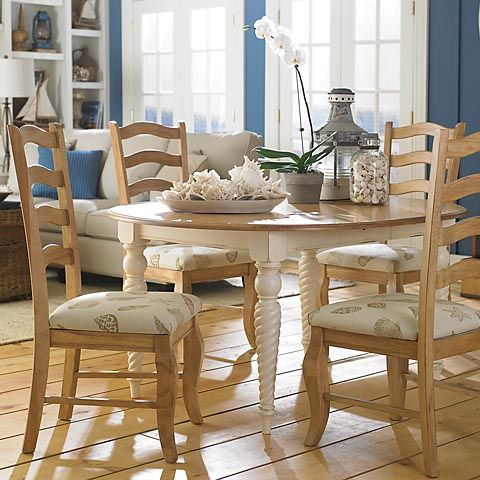 Bassett Custom Oval Dining Table 4469 4466 With Rope Legs 48 Round Shown