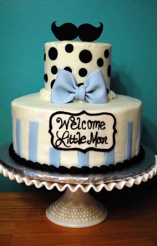 "Mustache Baby Shower...""Welcome Little Man"""