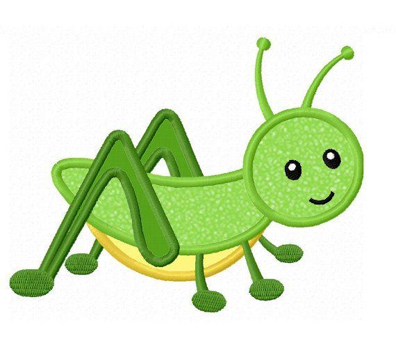 Grasshopper Applique Machine Embroidery Design NO:0081