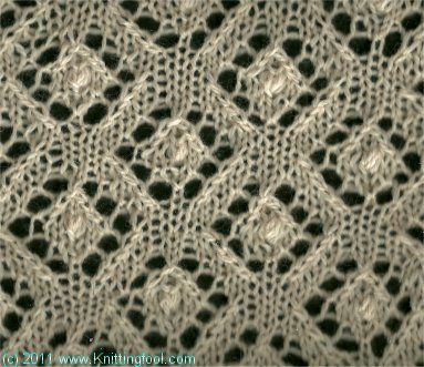 Knitting Nupp Stitch : Nupp Diamonds 3 - Knittingfool Stitch Detail Knitting stitches Pinterest ...
