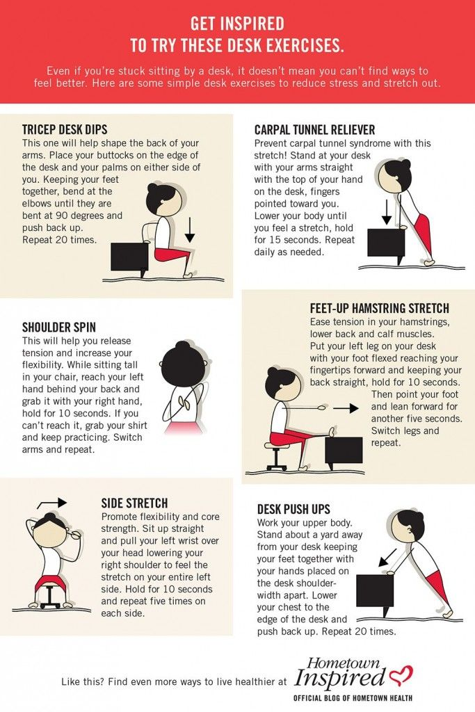 The 25 Best Desk Exercises Ideas On Pinterest Office Workouts Yoga And For Good Posture