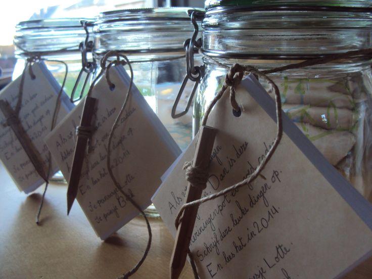 Herinneringenpot - een mooi nieuwjaarsgeschenk