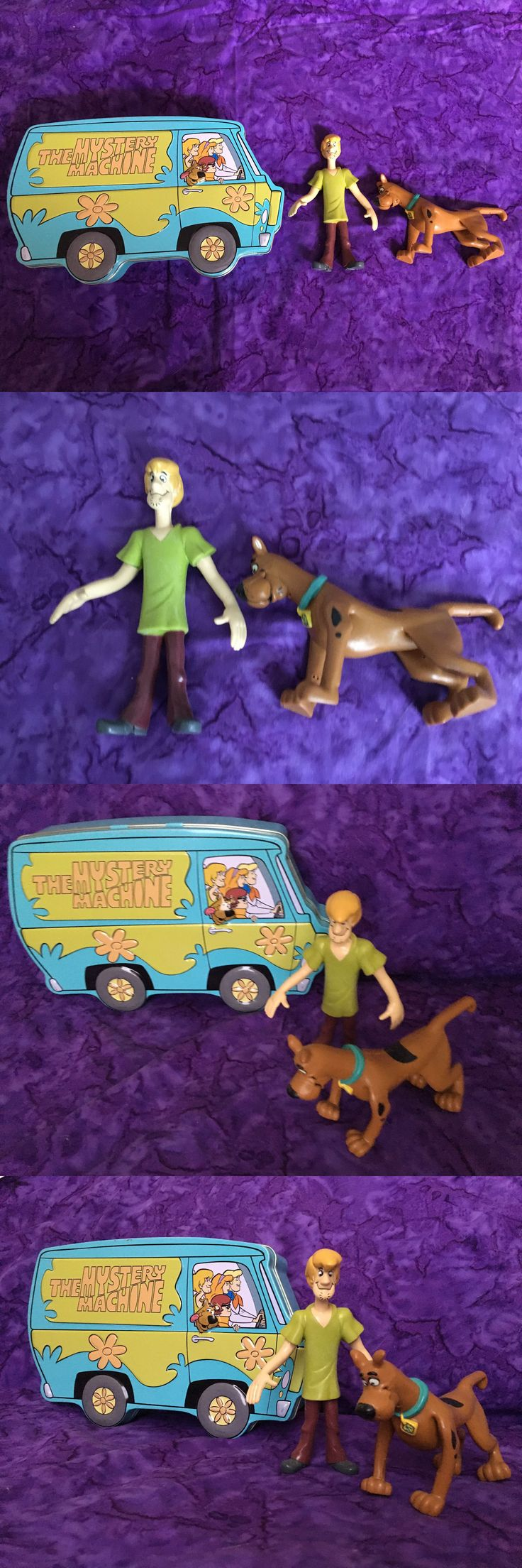 Scooby-Doo 11747: Scooby Doo Gang Mystery Machine Tin W Poseable Shaggy And Scooby Figures -> BUY IT NOW ONLY: $35 on eBay!