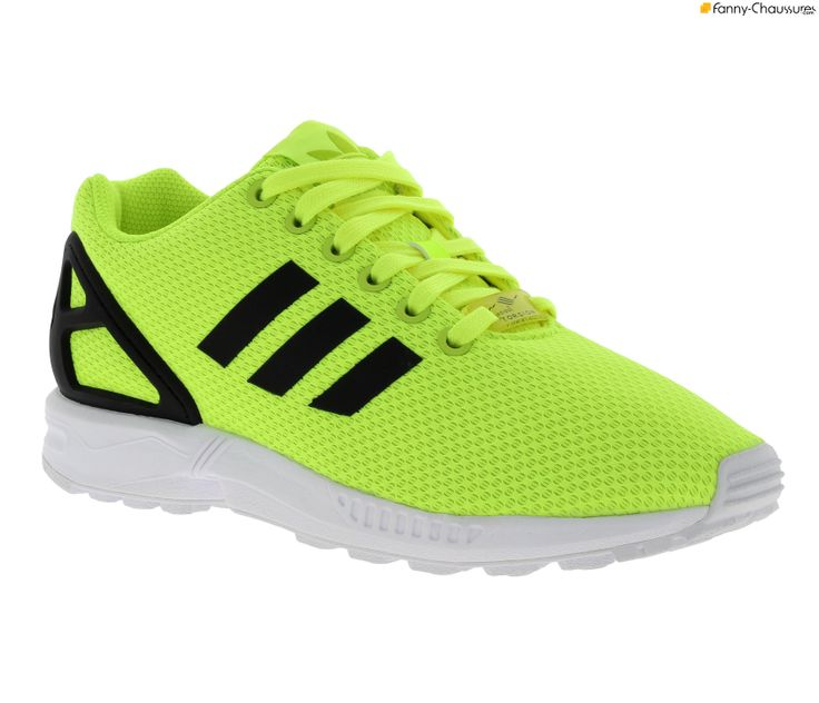 adidas zx flux homme fluo