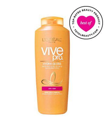 Best Drugstore Shampoo No. 7: L'Oréal Paris Vive Pro Hydra Gloss Moisturizing Shampoo for Very Dry/Damaged Hair, $4.99