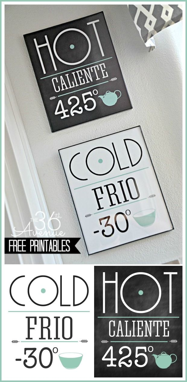 Free Printable Set.. Such a quick way to give your kitchen a fabulous new look! #printables #kitchen