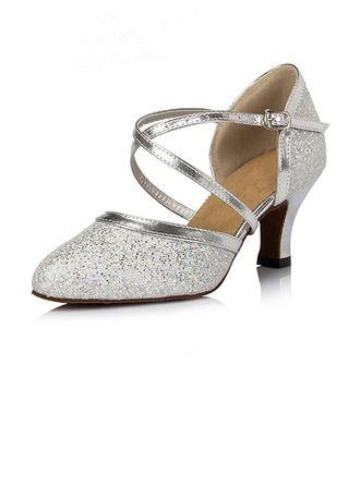 De mujer Brillo Chispeante Tacones Salón Moderno Zapatos de danza (053064670)
