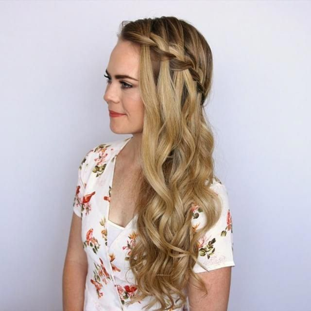 Preview of the Sideswept Waterfall Braid  To watch the full tutorial, click the link in my bio and tag a friend  who would love this style! #missysueb...