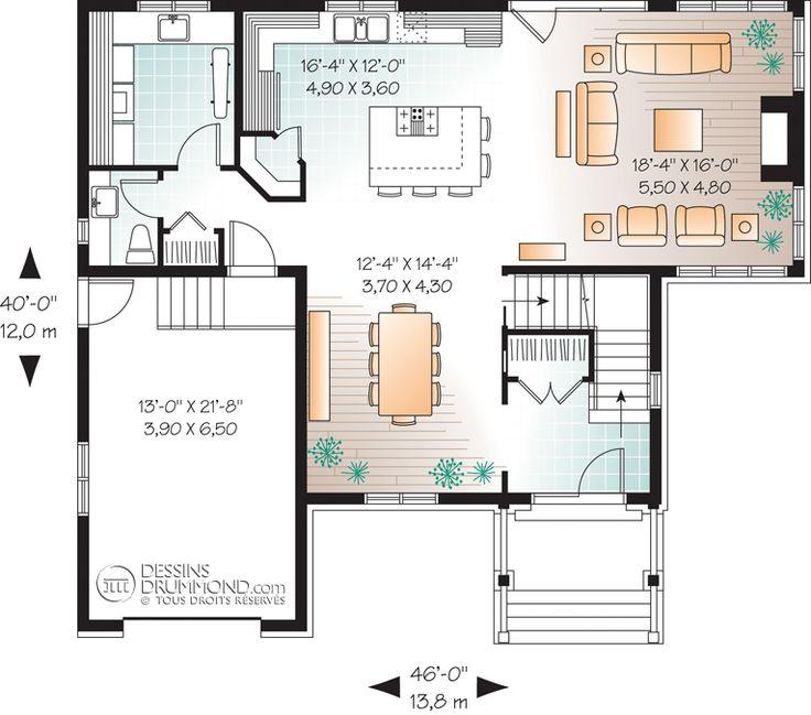 les 25 meilleures id es de la cat gorie plan maison etage sur pinterest plan de maison ouvert. Black Bedroom Furniture Sets. Home Design Ideas