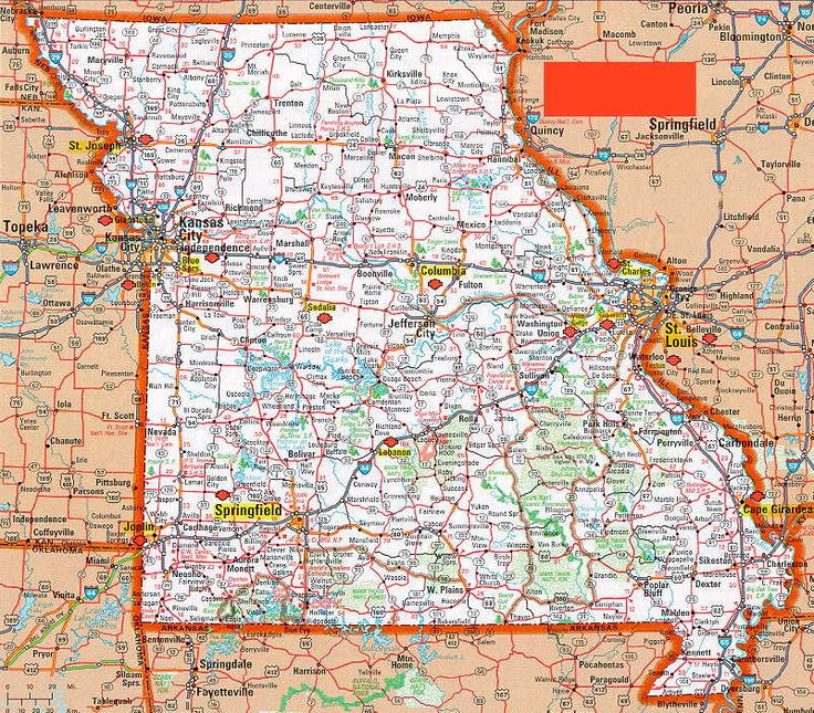 Missouri State Highway Map Map Usa Map Images - Highway map of missouri