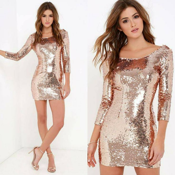 Sukienka z cekinami rose gold Sequindress