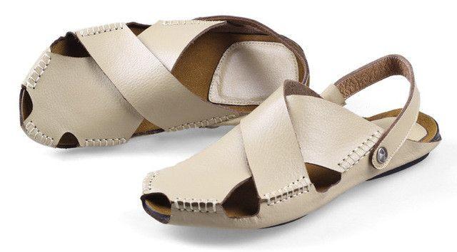 Genuine Leather Men's Dress Sandals