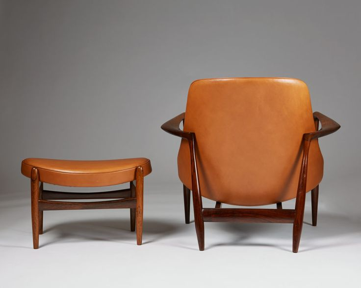Rosewood and cognac leather. Elisabeth chair Ib Kofod
