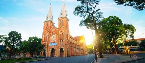 Saigon Notre Dame Cathedral is one of the most popular tourist spots in Ho Chi Minh City, Vietnam