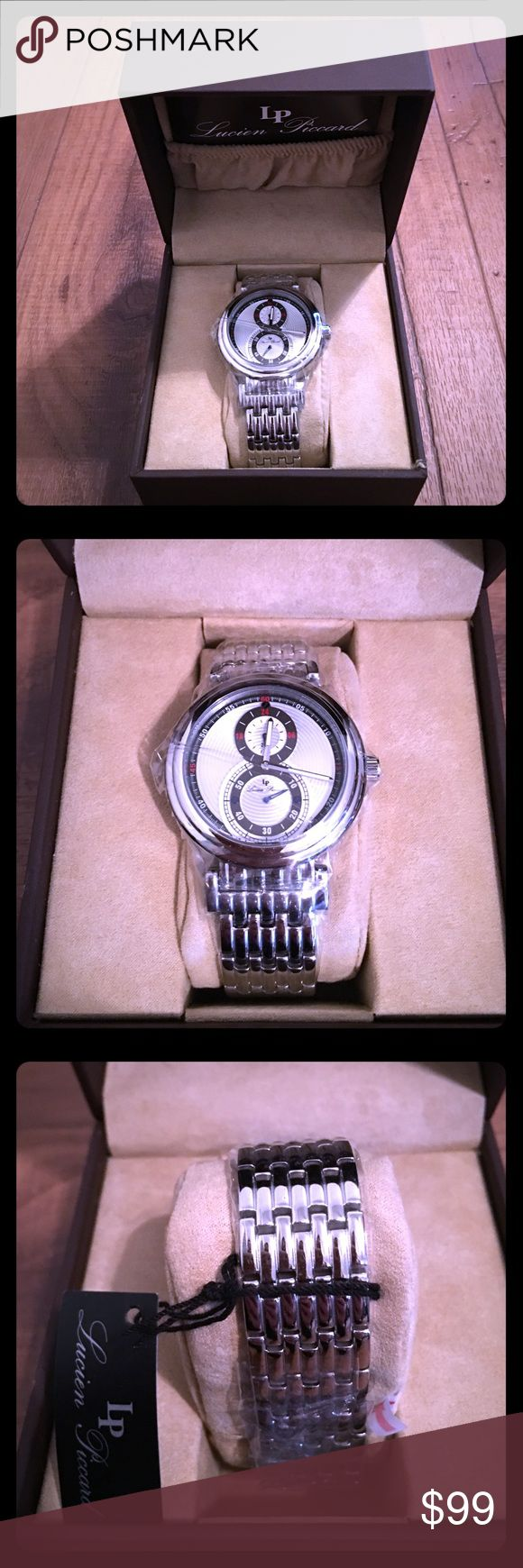 Men's BNWT Lucien Piccard watch Men's BNWT Lucien Piccard watch. In original packaging, plastic and box. For the men out there or amazing gift for the hubby or bf Lucien Piccard Accessories Watches