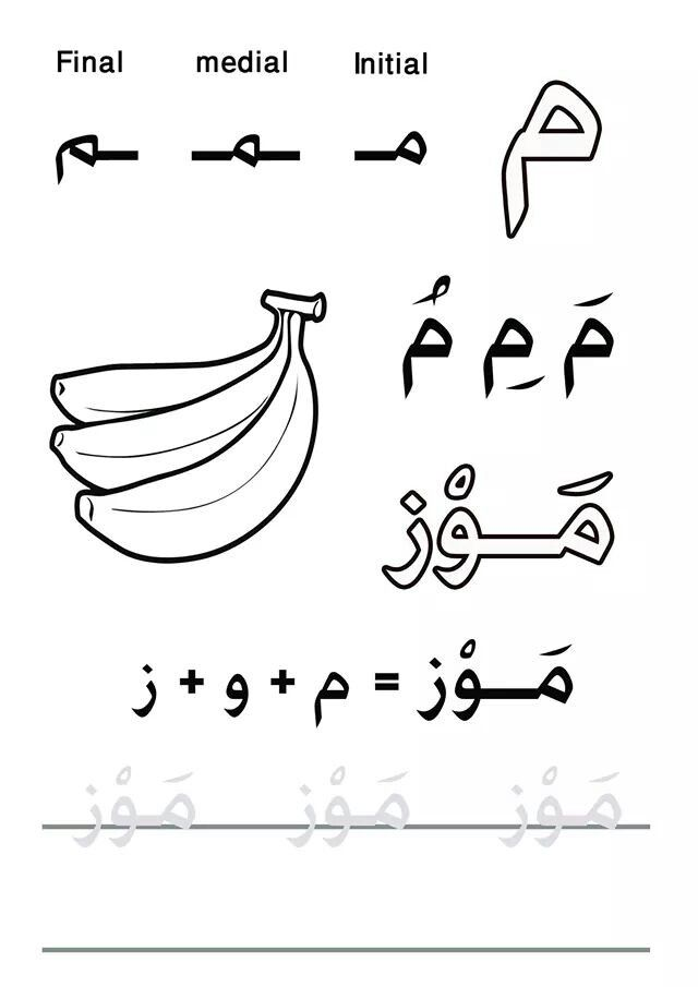 My First Letters and Words book #practicelearnarabic @Practice and learn Arabic facebook group  حرف الميم