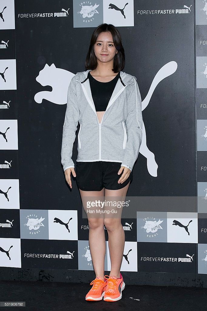 Lee Hye-Ri of South Korean girl group Girl's Day (Girls Day) of South Korean girl group Girls Day attends the photocall for 2016 PUMA 'Ignite Seoul' on May 15, 2016 in Seoul, South Korea.