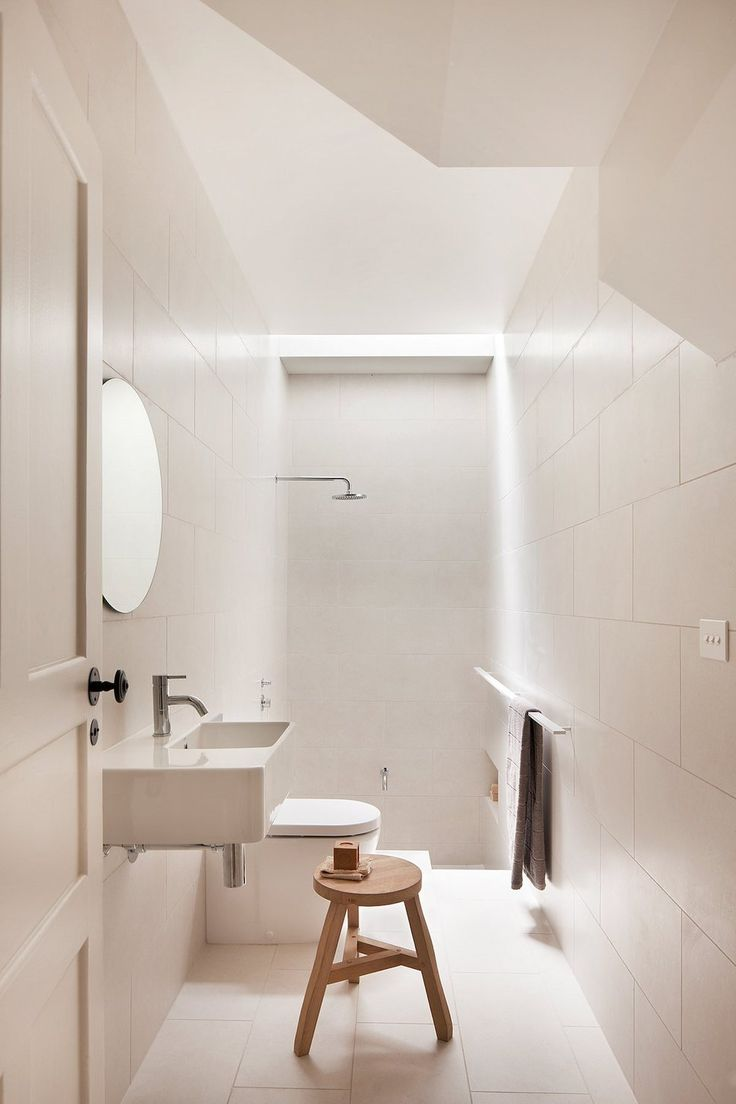 1267 best white bathrooms images on pinterest white bathrooms great lighting and use of travertine elwood house by robson rak architects made by cohen melbourne