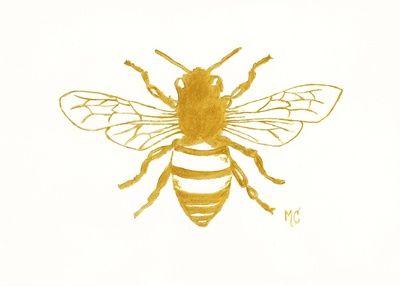 Bee Preppy Art Print