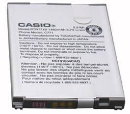 New Original Casio OEM Battery Replacement, BTR711, BTR711B, 1460mAh. Compatible with: G'zOne Comando C771. 30 Day Money Back Guarantee. 1 Year Warranty. FAST Shipping! More Details