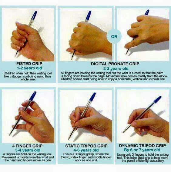development of mature pencil grasp