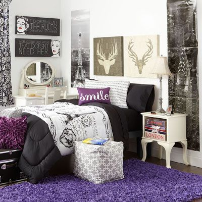 Beautiful Double Points For The Purple Rug.