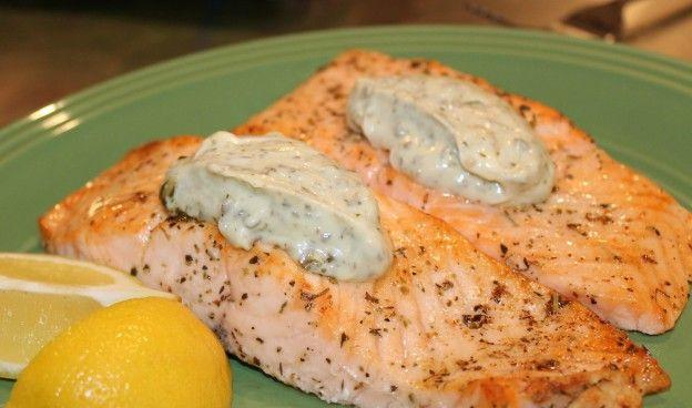Stephan's Broiled Salmon Pesto Recipes — Dishmaps