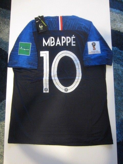 af254070e2a NIKE K. MBAPPE FRANCE 2 STAR 2018 WORLD CUP VAPORKNIT VAPOR MATCH HOME  JERSEY Discount Price 249.99 Free Shipping Buy it Now