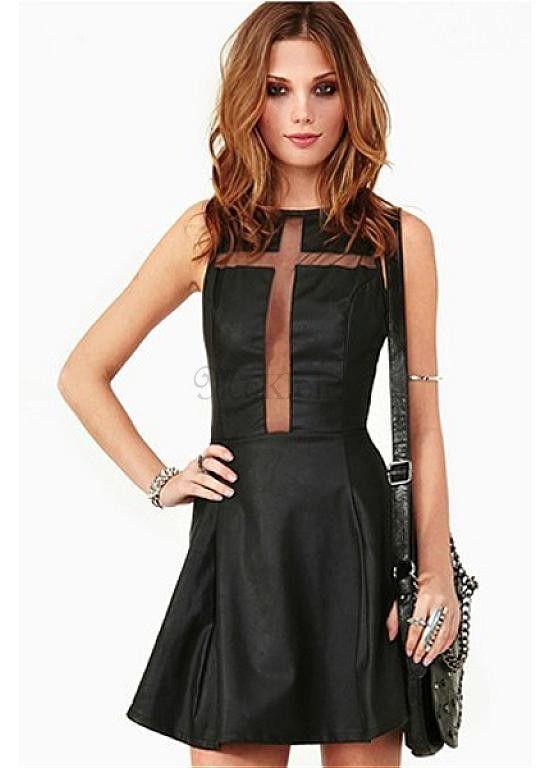 c96356993a372c Kreative Mini Exquisit Polyester Party Kleid Nacht Stil Schwarz Sexy Club  Have für die Übergangssaison #