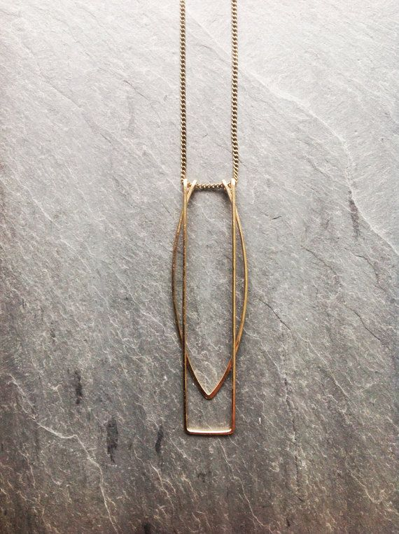 Gold Geometric Gates necklace-by Loop by LoopHandmadeJewelry