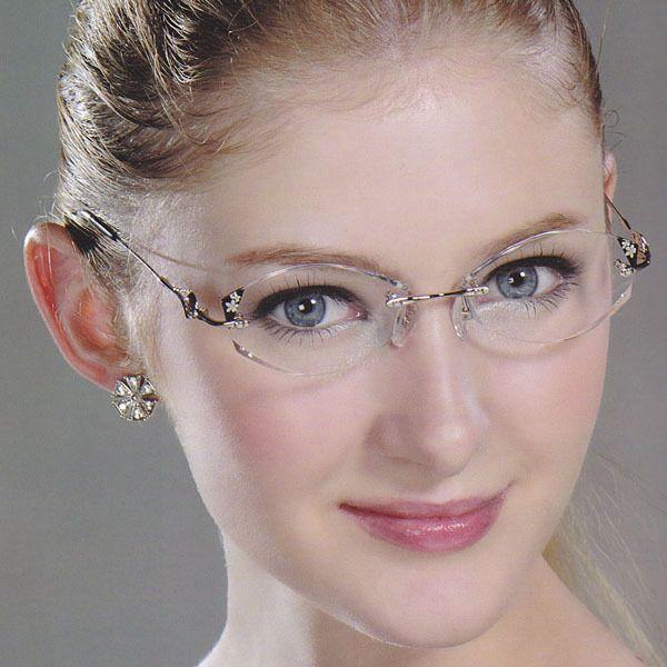 Hedwig | Cinderella | Miss Gao Dang trimming diamond rimless glasses porcelain parquet G8-05